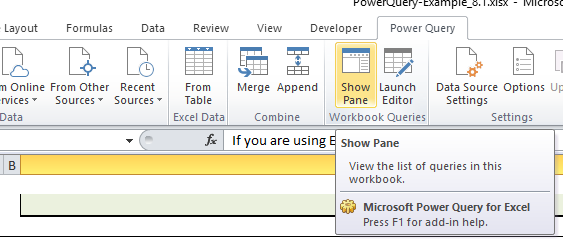 Using CAST AIP data in Excel with Power Query and the