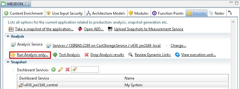 Oracle Forms and Reports - Run and validate your analysis - CAST AIP