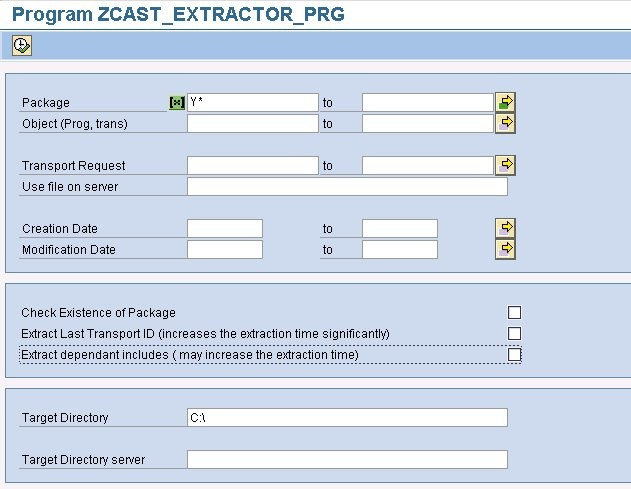Using the extraction programs - CAST AIP 8 2 x Documentation
